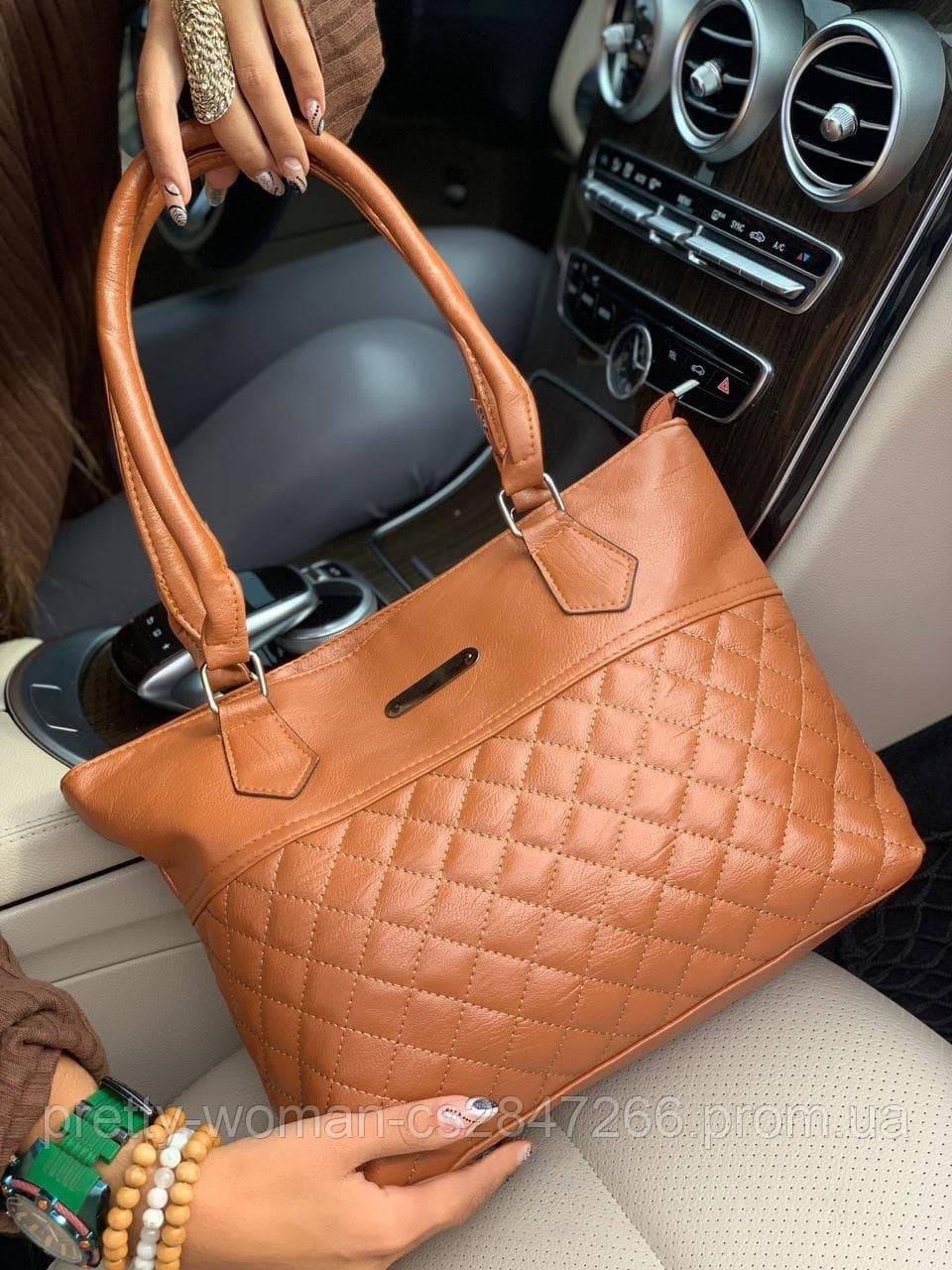 Женская коричневая сумка код 7-53