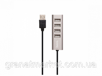 Usb Hub Hoco HB1 Line Machine 4Usb Цвет Серый