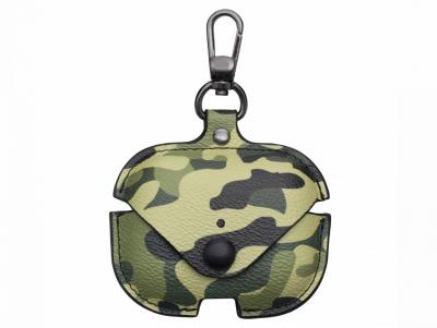 Футляр для наушников Airpod Pro Camouflage Leather Цвет Зелёный