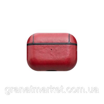 Футляр для наушников Airpod Pro Leather Copy Цвет Красный