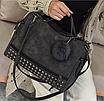 Женская черная вместительная сумка из искусственной кожи код 3-406, фото 2