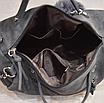Женская черная вместительная сумка из искусственной кожи код 3-406, фото 4