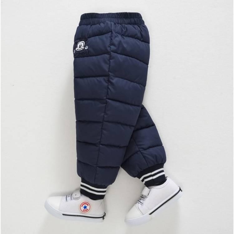 Зимние штаны темно-синие на мальчика