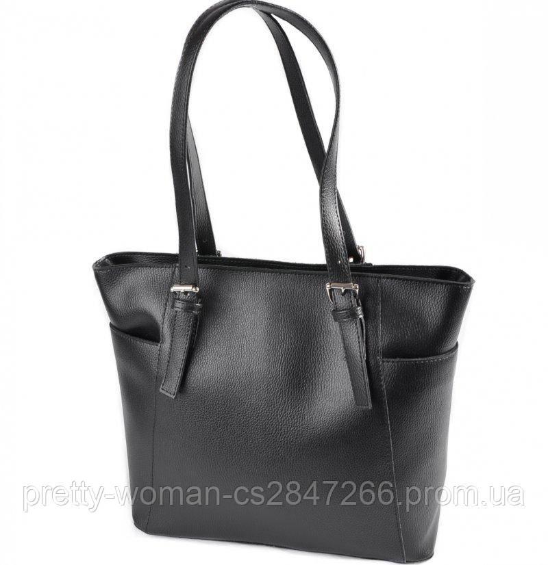 Классическая женская сумка черная код 25-195-1