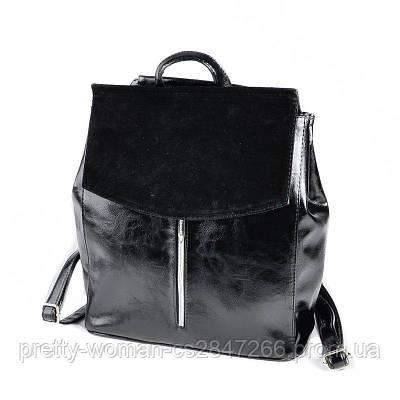 Чорний жіночий рюкзак код 25-173