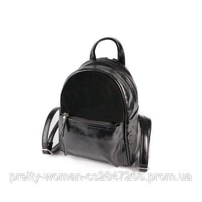 Чорний жіночий рюкзак код 25-124