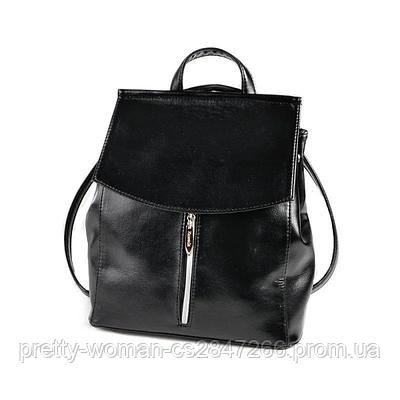 Чорний жіночий рюкзак код 25-159