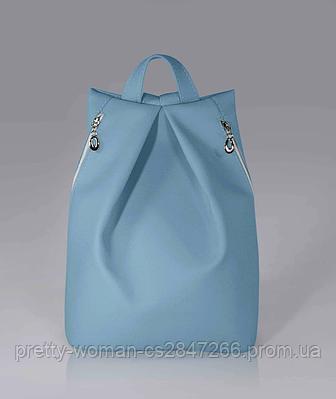 Стильний блакитний жіночий рюкзак код 9-25