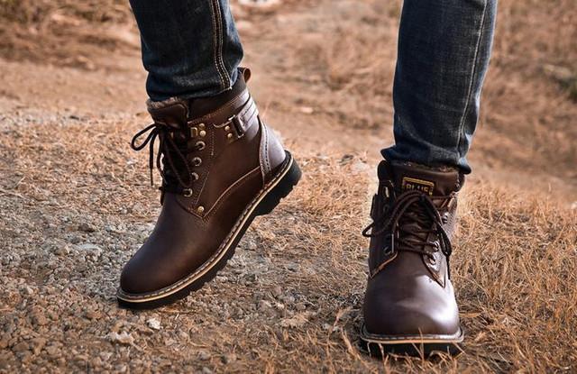 Кожаные мужская обувь