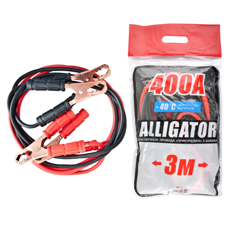 Пусковые провода ALLIGATOR BC642 CarLife 400A 3м пакет