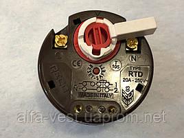 Механічний Терморегулятор з прапорцем RECO RTD 20А , 250 вольт