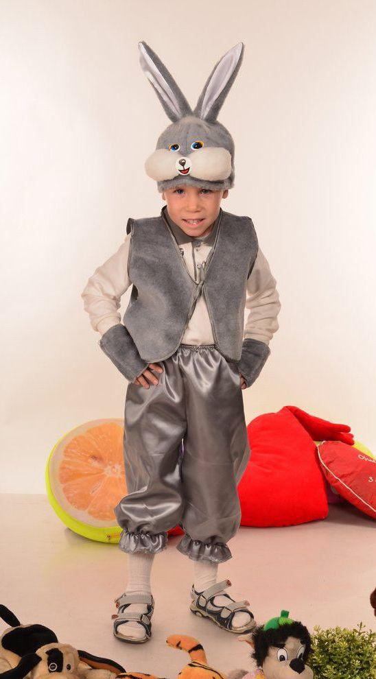 Карнавальный костюм серого зайчика на утренник