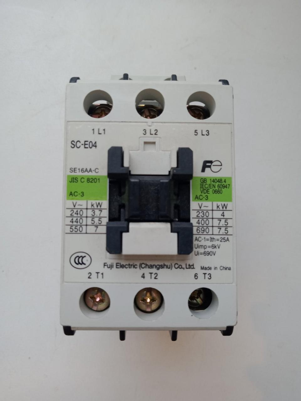 Пускатель контактор Fuji electric sc-e04 и sc-e05