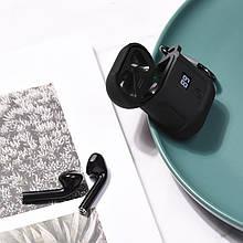 Наушники Hoco S11 Melody с зарядным чехлом и LED цифровым дисплеем уровня заряда, черный (S11(B))