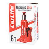 Домкрат бутылочный 8 т 200-385 мм гидравлический CARLIFE (BJ408), фото 5
