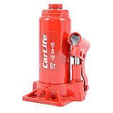 Домкрат бутылочный 6 т 200-385 мм гидравлический CARLIFE (BJ406), фото 2