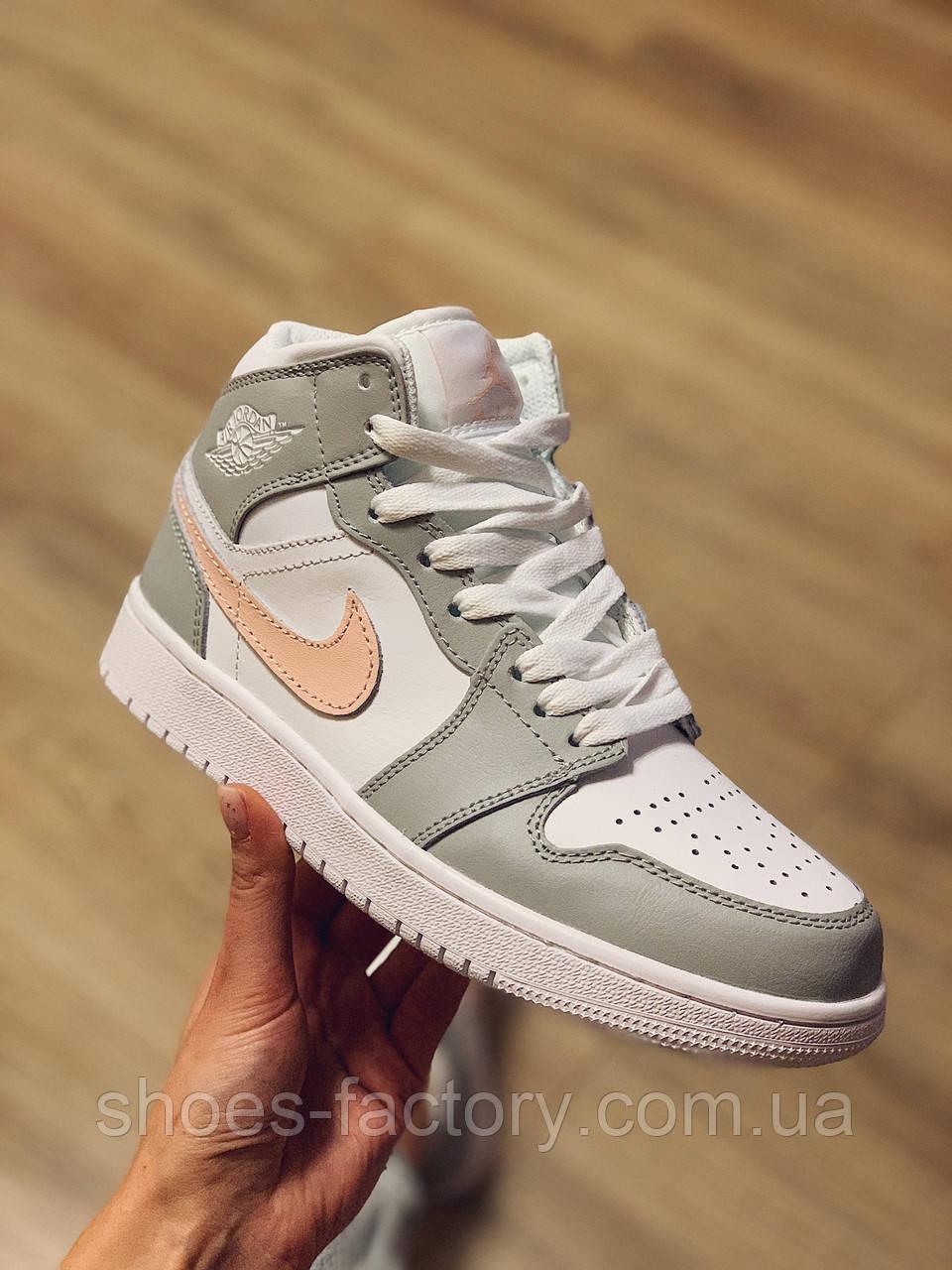 Кроссовки Nike Air Jordan 1 Mid женские кожаные