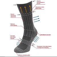 Шкарпетки Берець демісезонні чорні, фото 2