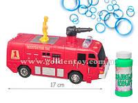 Машина пожарная с музыкой и светом, пускает пузыри, на батарейках