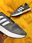 Мужские кроссовки Adidas ZX500 RM (темно-серые) D61, фото 7