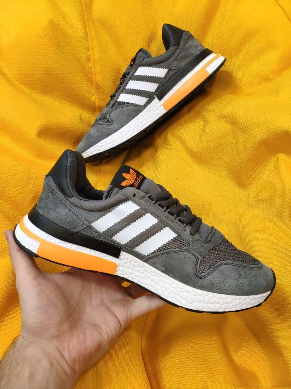 Мужские кроссовки Adidas ZX500 RM (темно-серые) D61