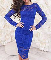 Гипюровое женское платье вечернее. Женское платье средней длины по оптовым ценам. Платье оптом