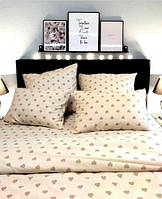 Комплект постельного белья Home Бязь Голд Сердца 200x220 наволочки 50x70 или 70x70