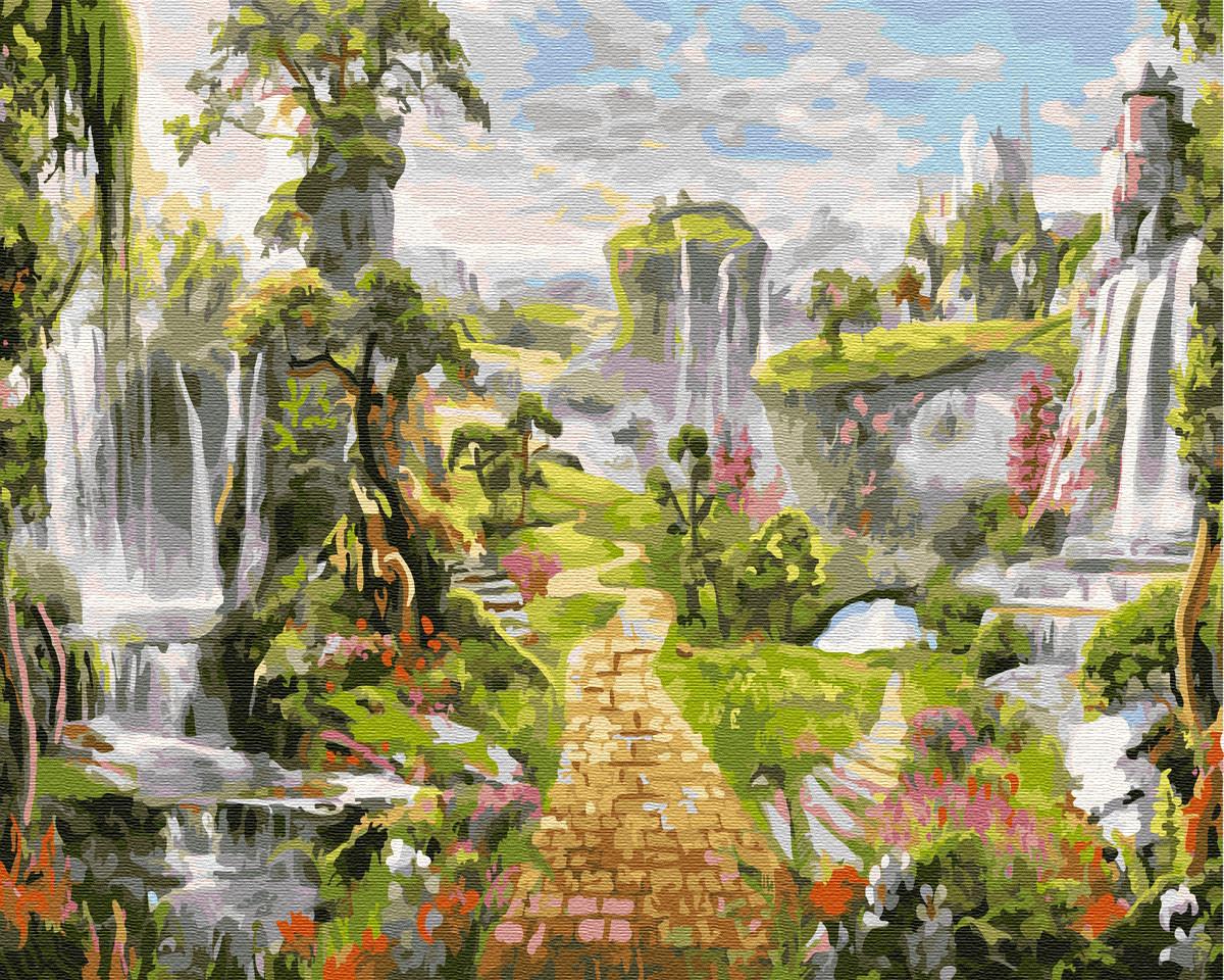 Картина по номерам Город водопадов