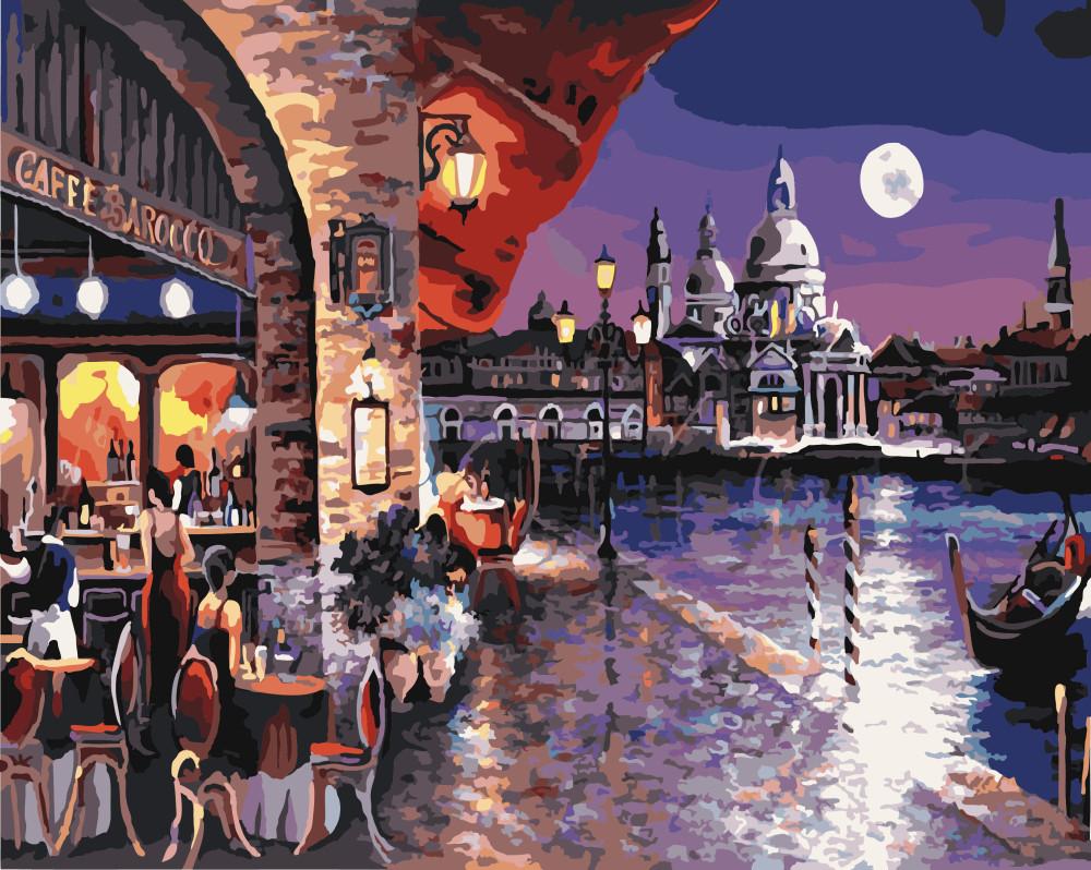 Картина по номерам Ночное кафе Праги