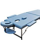 Массажный стол ZENET ZET-1044 L light blue, фото 2