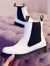Женские белые ботинки Челси CHELSEA 2021 Весна Осень