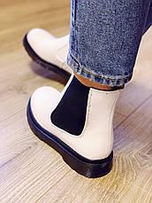 Женские белые ботинки Челси CHELSEA 2021 Весна Осень, фото 3