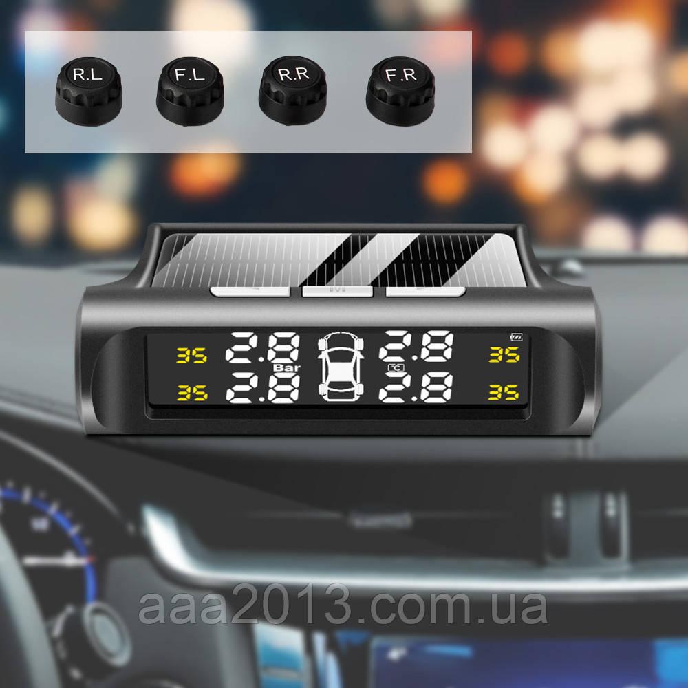 Контроль давления температуры в шинах TPMS, солнечная батарея, внешние датчики, аккумулятор