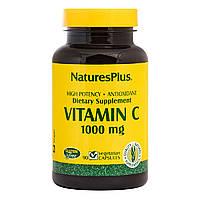Витамин C, Vitamin C, 1000 мг, Nature's Plus, 90 вегетарианских капсул