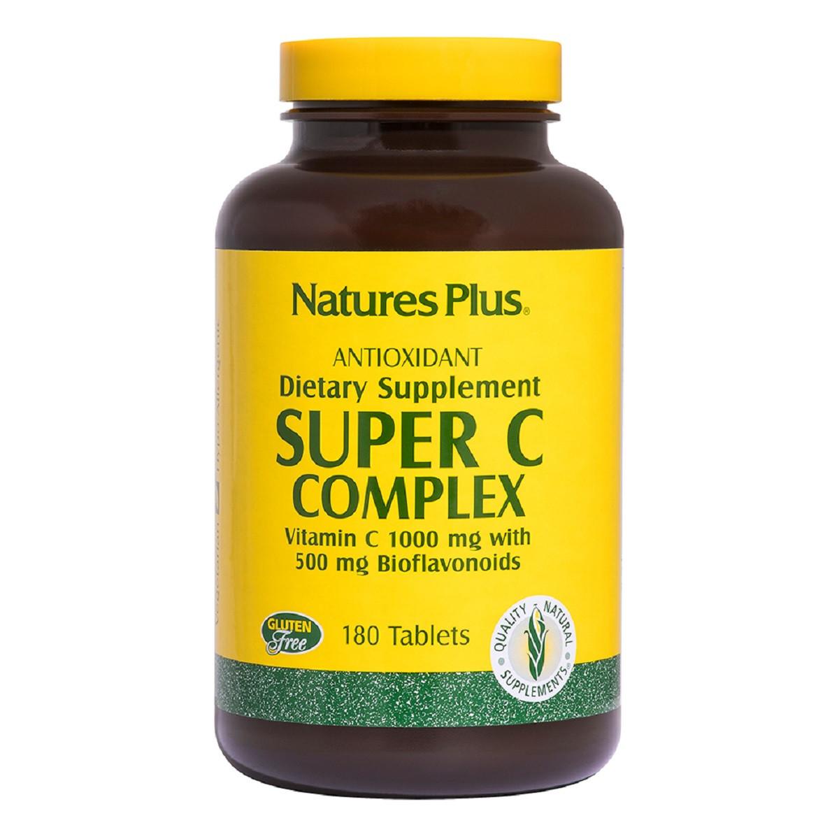 Супер Комплекс Витамина С, Super C Complex, 1000 мг, Nature's Plus, 180 таблеток