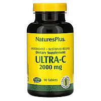 Витамин С, Ultra-C, 2000 мг, Nature's Plus, 90 таблеток