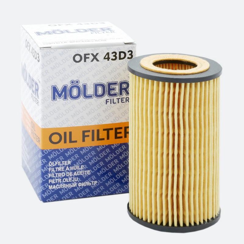 Фильтр масляный MOLDER аналог WL7240/OX153D3Eco/HU7181K (OFX43D3)