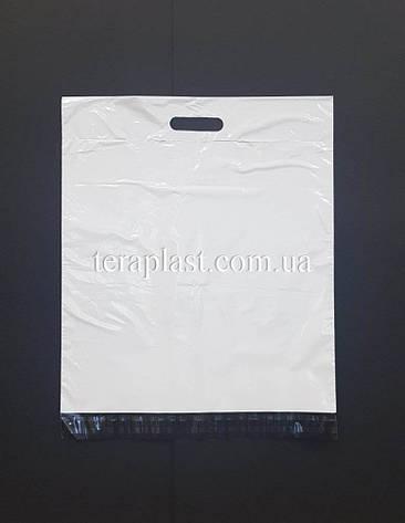 Курьерский пакет с ручкой (60 мм) 400х400+40 мм (100шт), фото 2