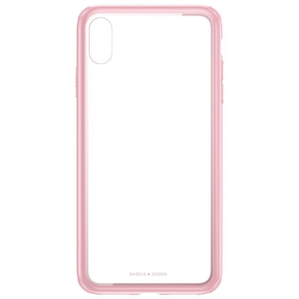 Apple iPhone XS Max Чохол-накладка Baseus See-through Pink