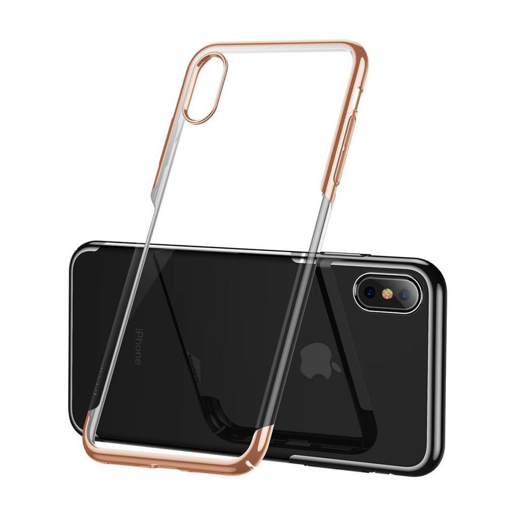 Apple iPhone XS Чохол-накладка Baseus Glitter Gold