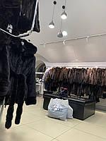 Пальто зима осінь кашемір модель оверсайз кажан сірого кольору з натуральним хутром песця