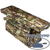Мягкая накладка на сиденье 840х200х50 мм с сумкой рундуком для надувных лодок ПВХ, цвет камуфляж, фото 1