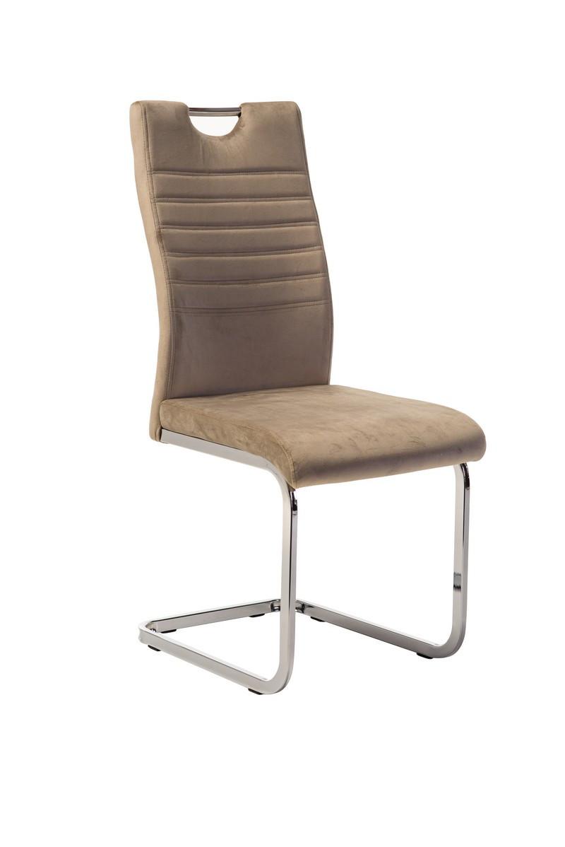 Вельветовый стул S-120 капучино от Vetro Mebel с ручкой