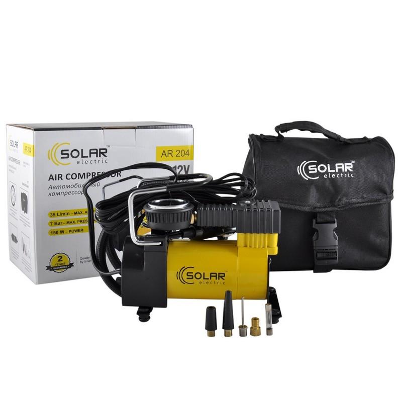 Автомобильный компрессор Solar однопоршневой 35 л/мин AR204