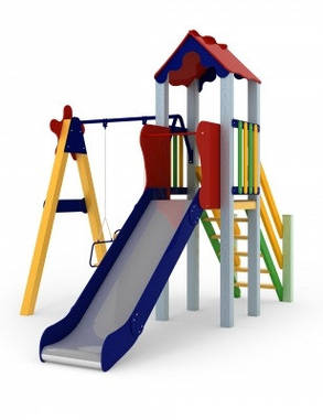 Дитячий комплекс Малюк, висота гірки 1,2 м, фото 2