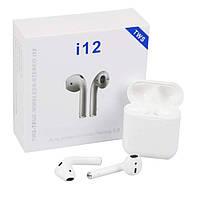 Беспроводные Bluetooth наушники TWS i12 AirPods / Сенсорные блютуз наушники