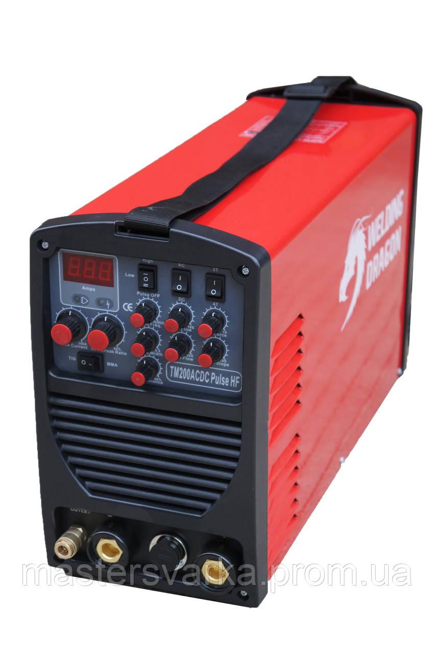 Сварочный аппарат аргонодуговой сварки Welding Dragon TM200 ACDC Pulse HF