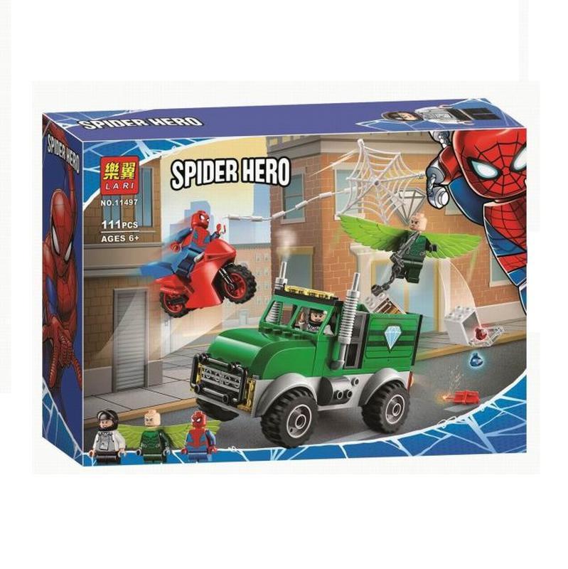 """Конструктор Lari """"Ограбление стервятника"""" Spiderman"""