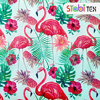 Ткань Дизайн 900Д ПУ Фламинго