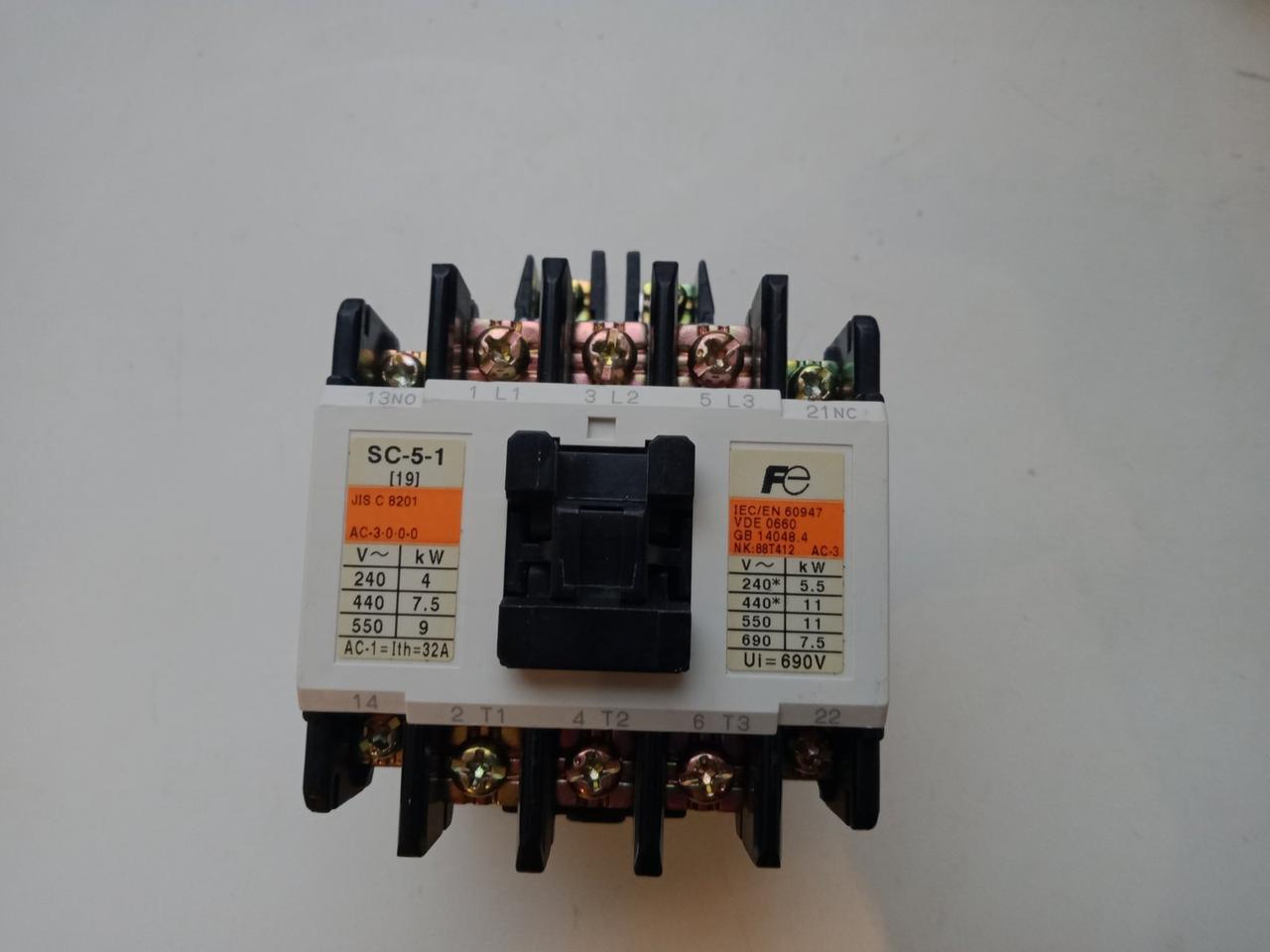 Контактор, котушка 380V Fuji Electric SC-5-1